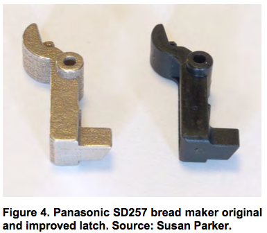 Panasonic SD257 bread maker original and improved latch