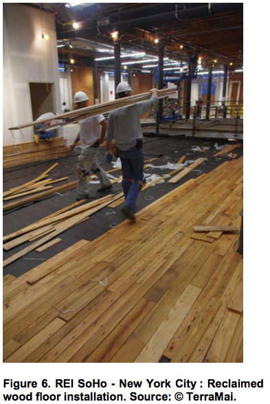 Reclaimed wood in retail environments creating an for Reclaimed wood new york