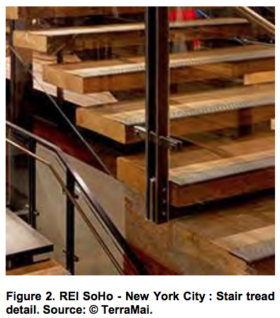 REI SoHo - New York City Stair tread detail