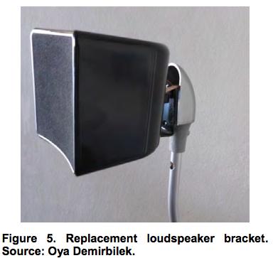 Replacement loudspeaker bracket
