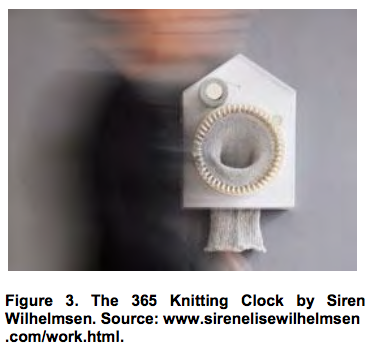 The 365 Knitting Clock by Siren Wilhelmsen