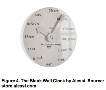 The Blank Wall Clock by Alessi
