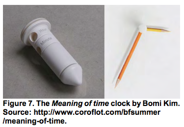 The Meaning of time clock by Bomi Kim